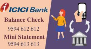 check ICICI Bank account balance