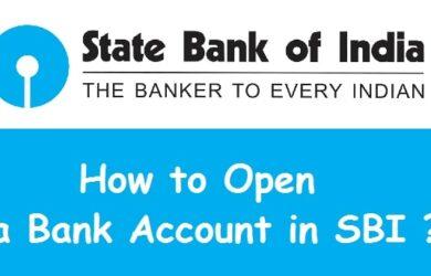 Open SBI Savings bank account